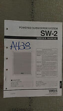 Yamaha sw-2 service manual original repair book powered subwoofer speaker