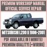 WORKSHOP MANUAL SERVICE & REPAIR GUIDE for MITSUBISHI L200 II 1996-2001