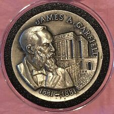James Garfield High Relief 36 Grams Sterling Silver .925 Fine 92.5% Round Coin