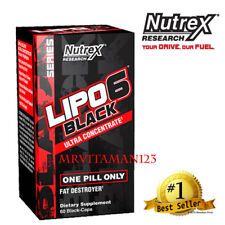 Nutrex LIPO 6 BLACK Ultra Concentrate/Weight Loss 60 Capsules NEW! Free Shipping