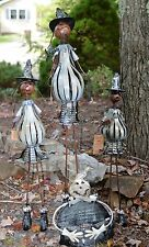 Halloween Pumpkins with Gourde Porch Greeter Metal Halloween Prop Set of 4