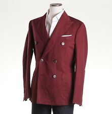 NWT $1425 BOGLIOLI Burgundy Linen-Cotton 'K Jacket' 38 R (Eu 48) Sport Coat