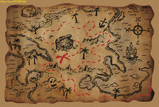 NEW DESIGN PIRATE TREASURE MAP PARTY BAG TOY PRO FANCY DRESS COSTUME ACCESSORY