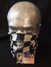 Vespa Neck Head Warmer Tube Snood Black White Check FREE POSTAGE