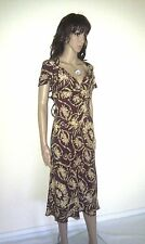 WHISTLES Silk Designer Dress. Floral Print. Long. Evening Cocktail Party SIZE10