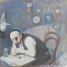 "ISRAELI ART - ISRAEL - RUTCHTEIN - THE WATCHMAKER - OIL ON CANVAS - 23.6"" X 22"""