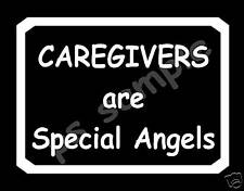CAREGIVERS ARE SPECIAL ANGELS -  Flexible Fridge Magnet