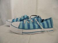 BNWT Little Girls Sz 10 Rivers Doghouse Brand Blue Stripe Lace Up Jogger Shoes