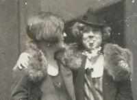 VINTAGE FUNNY UNUSUAL FLAPPER ERA TONGUE SNAPSHOT GIRLS LADIES DRESS OLD PHOTOS