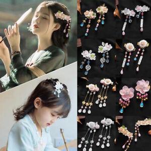 Crystal Kids Tassel Hair Clips Hair Accessories Antiquity Hairpins Hair Comb