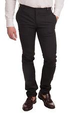 RRP €185 DANIELE ALESSANDRINI GREY Virgin Wool Blend Flat Front Trousers Size 44