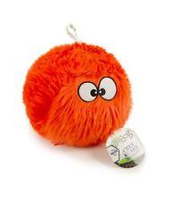 goDog Furballz Durable Plush Dog Toy with Chew Guard Technology Orange Large