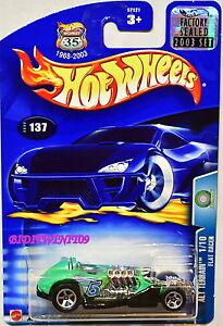 Hot Wheels 2003 Alt Terrain Plat Racer #137 Usine Scellé