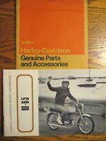 1968 1969 Harley Davidson M-65 Owner's Owners Manual Rider Handbook, w Envelope