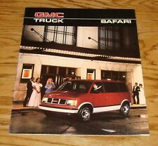 Original 1986 GMC Safari Sales Brochure 86 SL SLX SLE