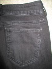 DKNY Soho Jean Boot Cut Stretch Dark Black Denim Jeans Womens Size 6 x 28