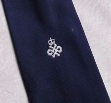 QUEEN'S AWARD TIE VINTAGE RETRO CREST 1970s 1980s ASSOCIATION CLUB LOGO MOTIF