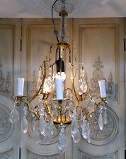 5-armiger Kronleuchter Leuchter Lampe Lüster Kristalllüster Empire Stil IG032