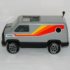 Tonka Silver Van Pressed Steel Metallic Grey Vintage Toy Pre-Owned 1970's