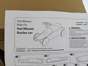 NIB Pottery Barn Kids Hot Wheels Ride On Car push vehicle