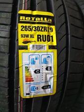 2X NEW CAR TYRES ROTALLA RU01 265/30 ZR19 XL 93W A1 PERFORMANCE 265 30 19 B+C