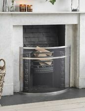 Bretforton Contemporary Sleek Fire Screen Guard | SMALL | SILVER