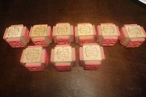 Hampton art stamps Diffusion Davinci alphabet numbers rubber stamp set letters