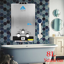 2GPM NG Natural Gas 8L Hot Water Heater Water Tank Heater w/ Showerhead