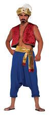 Mens Genie Waistcoat Vest Aladdin Bollywood Fancy Dress Costume Accessory Red