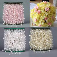 5M/10M/20M/60M Fishing Line Pearls Chain Pearl Beads Chain Garland Wedding Decor