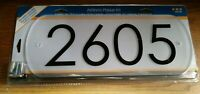 Modern Floating Standoff Address Plaque Acrylic Frosted Plaque Black Numbers