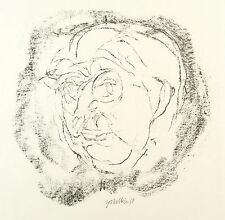 HORST ZICKELBEIN - PORTRÄT ARNOLD ZWEIG - Lithografie 1969