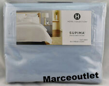 Hotel Collection 825 Thread Count Supima KING Flat Sheet Mist Blue