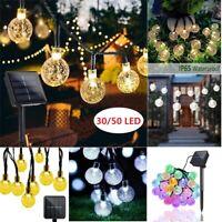 Christmas Lights Outdoor String Lights Yard Garden 30 /50 Solar Powered LED Bulb