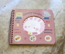 Vintage 1976 Sanrio CHEERY CHUMS Spiral Notebook/ Notepad  Pre-owned