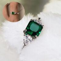 Smaragd Kristall Grünes Rhinistin Zircon Saphirring Zubehör für Schmuck
