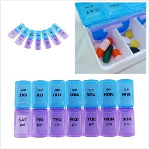 Massive Pillendose Medikamentenbox 7 Tage Tablettenbox Pillenbox Tablettendose