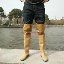Mens rubber wellies soft rain boots knee boots Non slip casual fishing Shoes