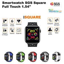 SGS SQUARE Smartwatch con misuratore ossigeno e pressione sanguigna GRIGIOBIANCO