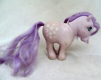 VTG My Little Pony Horse Figure G1 Purple BLOSSOM White Flowers 1982