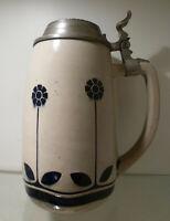 Jugendstil Bierkrug 1,0 Liter, Marzi & Remy Modellnr. 1945, um 1920