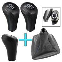 Palanca de cambio + funda de cuero negra para Bmw E46 Compact