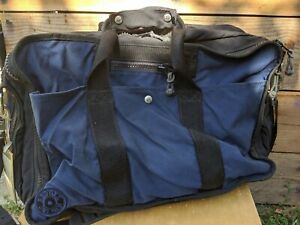 RED OXX Air Boss Midnight Blue, Black, Red Nylon Carry-On Travel Bag Luggage