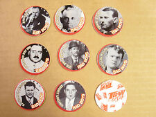 CAPONE, CASSIDY, DILLENGER, JESSE JAMES, LUCIANO POGS BY TROV LOT OF (8) DIFFER