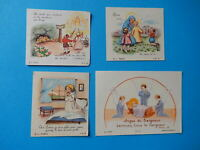 LOT 4 IMAGES PIEUSES HOLY CARD JESUS ENFANTS editions B L PARIS  THFR