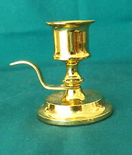 Very Lovely Collectible By Partylite Shiny Brass Heavy Candleholder With Handle