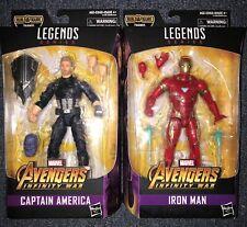 Marvel Legends Iron Man & Captain America Lot 2 Avengers Infinity War Rare HTF