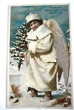 "Gorgeous Vintage Advertising Card for ""Tauntin Inn Works"" w/ Christmas Angel *"