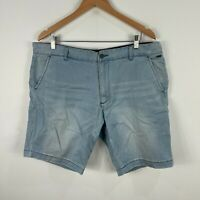 Industrie Mens Shorts 38 Slim Fit Blue Chino Pockets