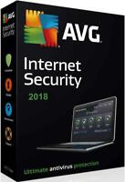 AVG Internet Security 2018 - 1 PC or Laptop & for 1 year - OFFICIAL DOWNLOAD